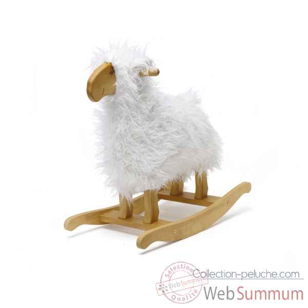 mouton bascule blanc teddykompaniet 1378 dans cheval. Black Bedroom Furniture Sets. Home Design Ideas