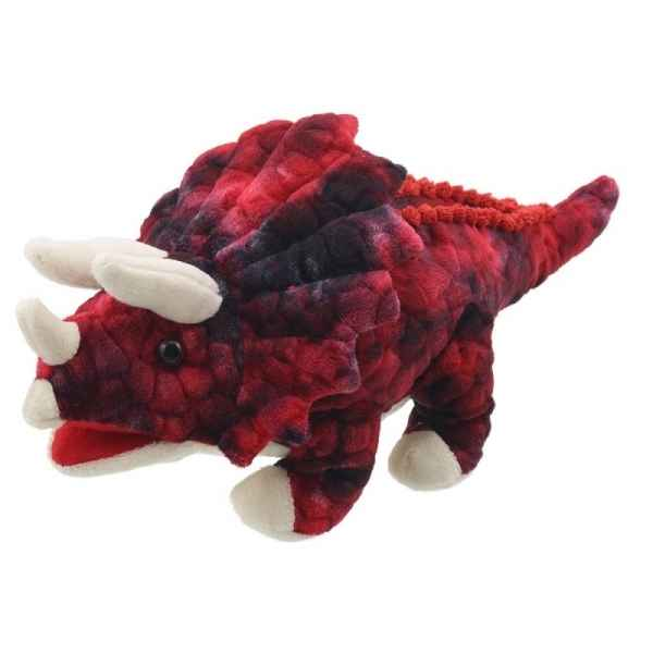 Bebe dinosaure triceratops rouge the puppet company -PC002907