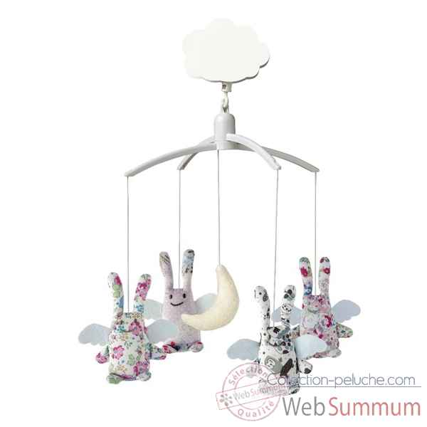 Mobile musical ange lapin liberty  Trousselier M1163 02