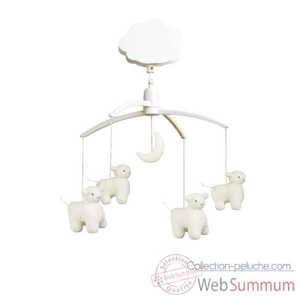 Mobile musical moutons + lune  Trousselier M1141