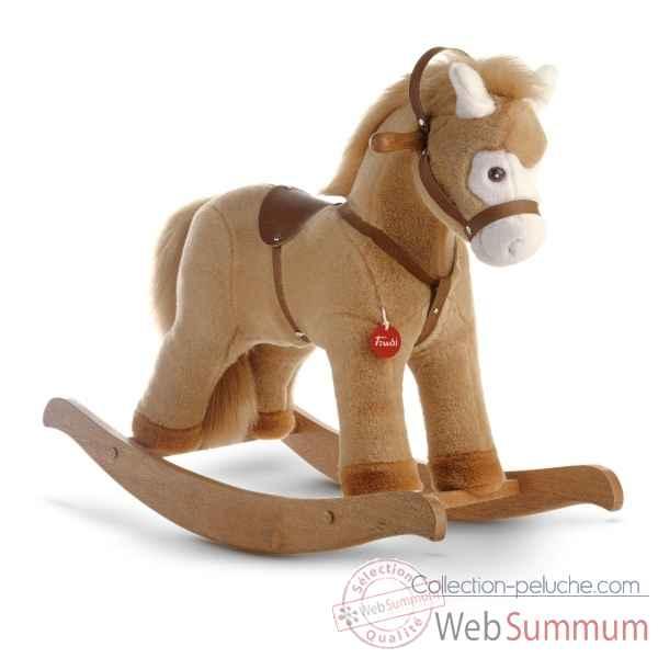cheval bascule beige trudi 29703 dans cheval bascule sur collection peluche. Black Bedroom Furniture Sets. Home Design Ideas