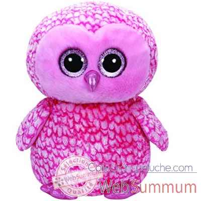 Peluche Beanie boo\'s large - pinky le hibou Ty -TY36608