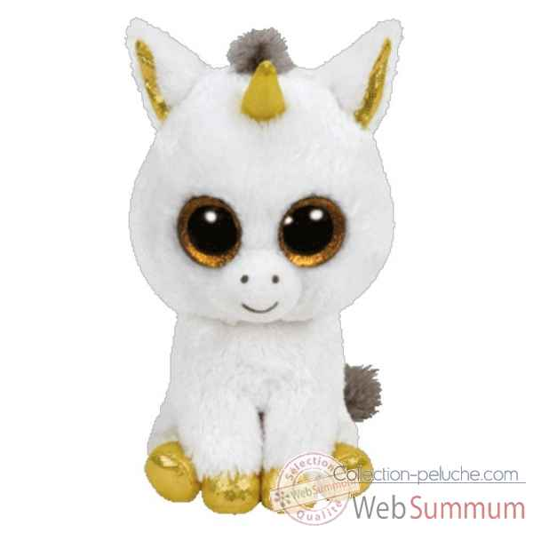 peluche beanie boo 39 s medium exclu pegasus la licorne ty ty36825 dans peluche ty. Black Bedroom Furniture Sets. Home Design Ideas