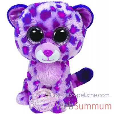 Peluche Beanie boo\'s medium - glamour leopard rose Ty -TY36985