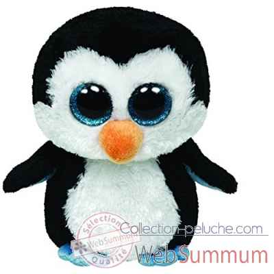 Peluche Beanie boo\'s medium - waddles le pingouin Ty -TY36904