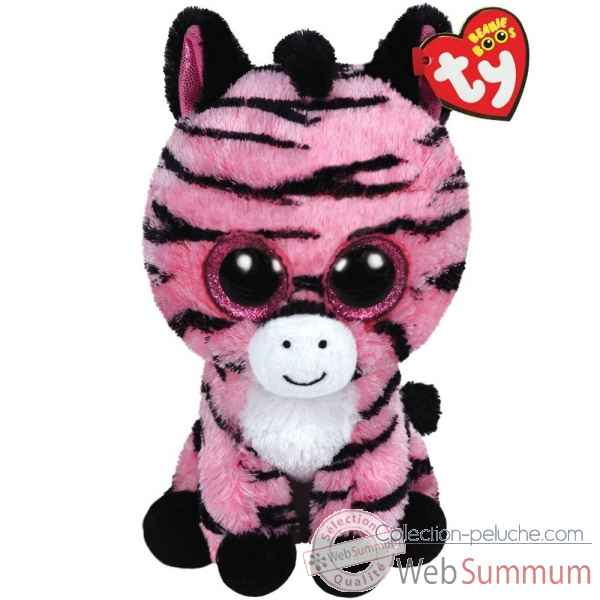 Peluche Beanie boo\'s medium - zoey le zebre Ty -TY37035