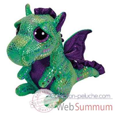 Peluche Beanie boo\'s small - cinder le dragon Ty -TY36186