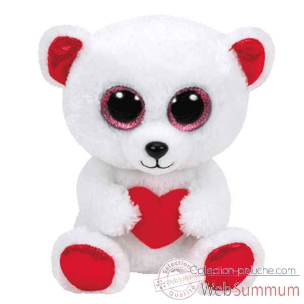 Peluche Beanie boo\'s small - cuddly bear l\'ours Ty -TY36176