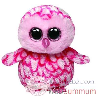 Peluche Beanie boo\'s small - pinky le hibou rose Ty -TY36094