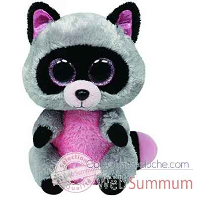 Peluche Beanie boo\'s small - rocco le raton laveur Ty -TY36727