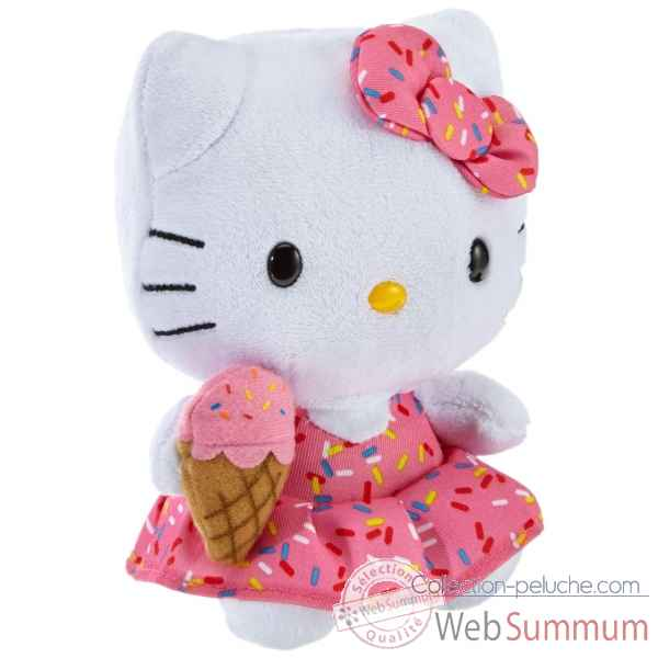 Peluche Hello kitty ice cream - beanie babies small -TY42090