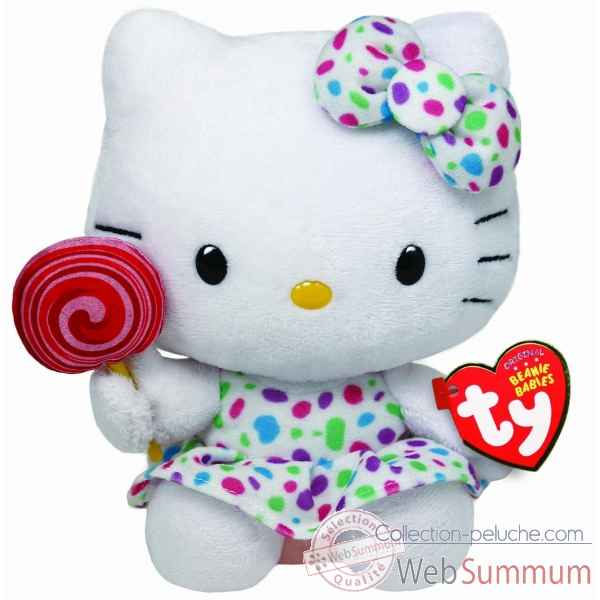Peluche Hello kitty lollipop - beanie babies small -TY40961
