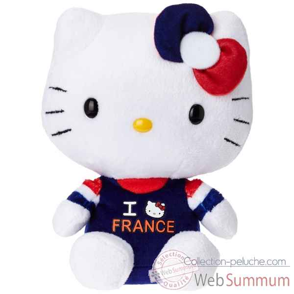 Peluche Hello kitty i love france - beanie babies small -TY46250