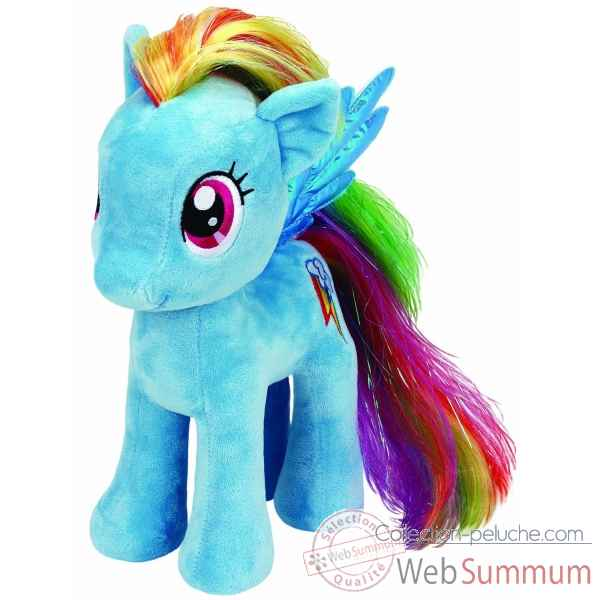 Peluche Mon petit poney medium - rainbow dash Ty -TY90205