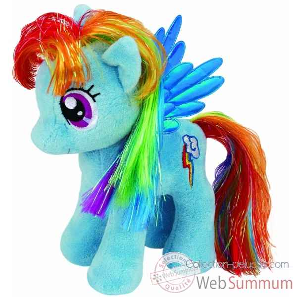 Peluche Mon petit poney small - rainbow dash Ty -TY41005