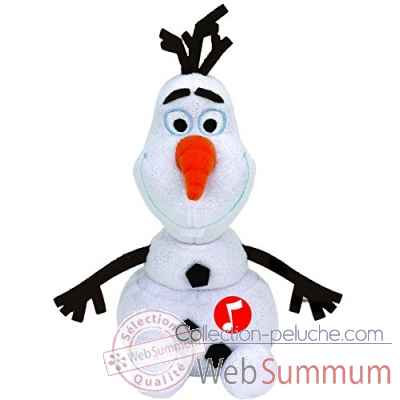 Peluche Olaf small - olaf le bonhomme de neige musical Ty -TY41148
