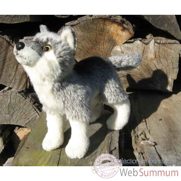 Peluche loup gris 20cm (long)  Ushuaia Junior 704